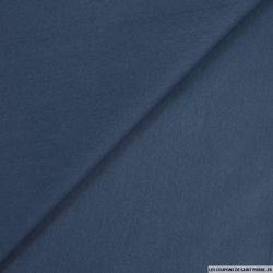Gabardine légère de coton bleu guède