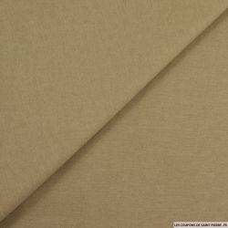 Gabardine légère de coton beige