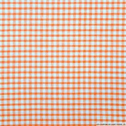 Coton Vichy 3mm orange