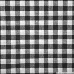 Tissus Coton Vichy 9mm noir