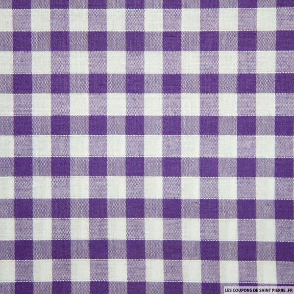 Tissus Coton Vichy 8mm violet