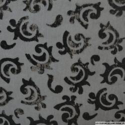Velours de soie dévoré arabesque