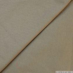 Coton tissé teint beige