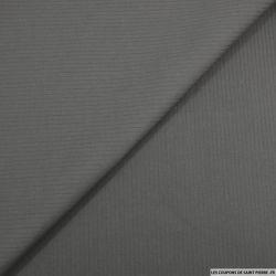 Coton tissé teint gris souris