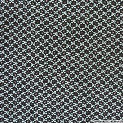 Microfibre imprimée flocon gris