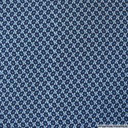 Microfibre imprimée flocon bleu
