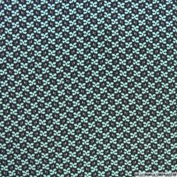 Microfibre imprimée flocon vert d'eau