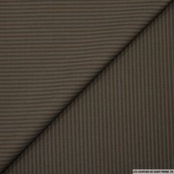 Tissu tailleur rayures marron