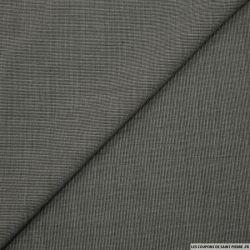 Tissu tailleur gris fines rayures