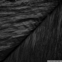 Taffetas polyester froissé noir