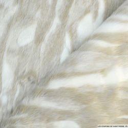 Fourrure Synthétique à poil long marron