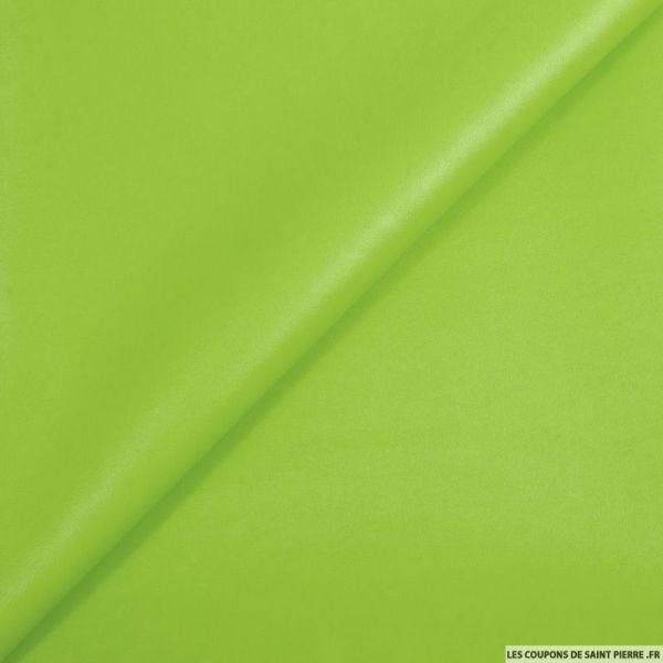 Simili cuir vert pomme
