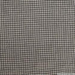 Polyester imprimé carreaux gris et noir