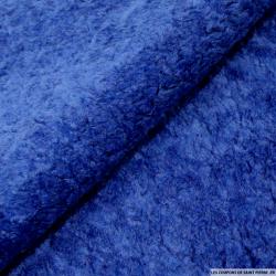 Fausse fourrure mouton bleu électrique