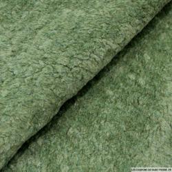Fausse fourrure mouton vert jade