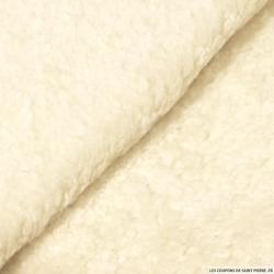 Fausse fourrure mouton crème