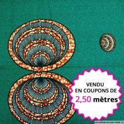 Wax africain coquillages, vendu en coupon de 2,50 mètres
