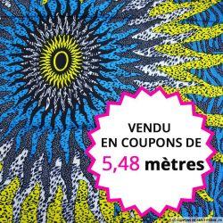 Wax africain grand soleil, vendu en coupon de 5,48 mètres