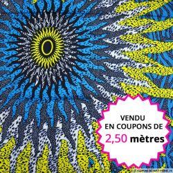 Wax africain grand soleil, vendu en coupon de 2,50 mètres