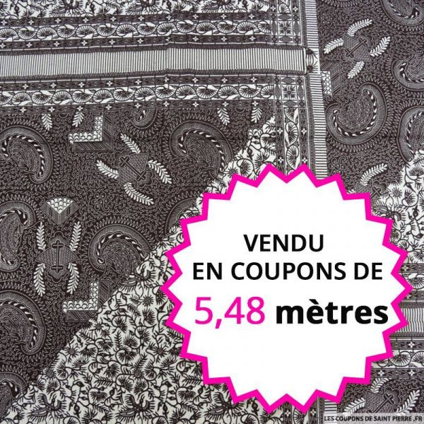 Wax africain oiseaux coco, vendu en coupon de 5,48 mètres