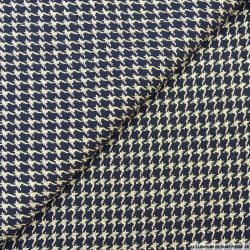 Tweed polyviscose fantaisie noir et bleu