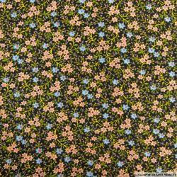 Polycoton imprimé fleurs sauvage