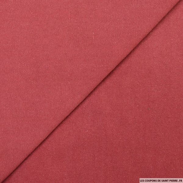 Bourrette de soie teint rouge