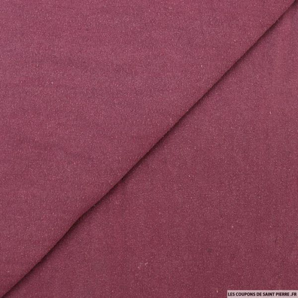 Bourrette de soie teint prune