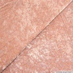 Velours frappé polyviscose rose ballerine