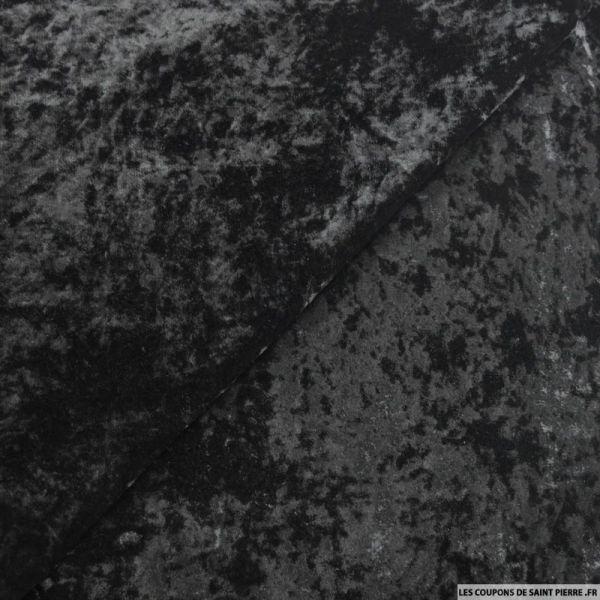 Velours frappé polyviscose noir
