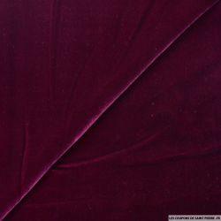 Velours de soie lie de vin Haute Couture