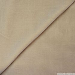 Velours de soie sable Haute Couture