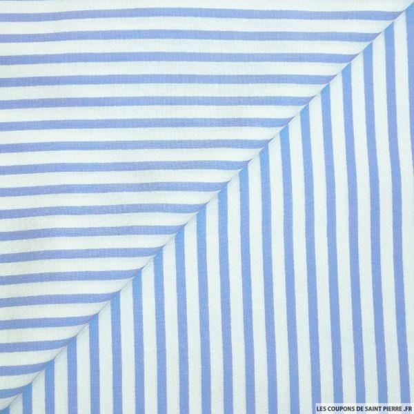 Viscose rayures fines bleu clair