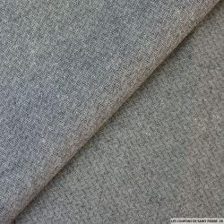 Lin gris zigzag
