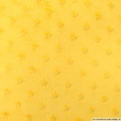 Minkee étoiles relief jaune