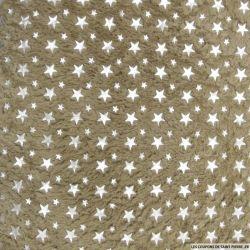 Doudou taupe étoiles argent