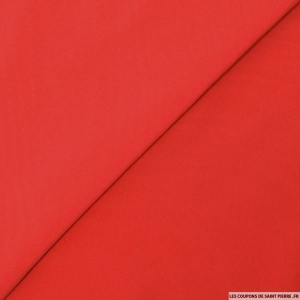 Microfibre polyester rouge