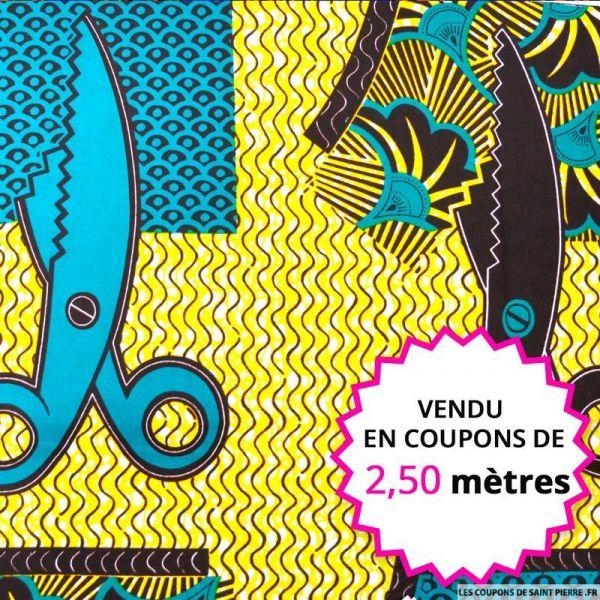 Wax africain couture, vendu en coupon de 2,50 mètres