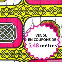 Wax africain médaillon rosace , vendu en coupon de 5,48 mètres