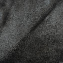 Fourrure synthétique laine et alpaga à poil long noir