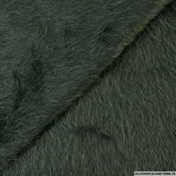 Fourrure synthétique laine et alpaga à poil long vert