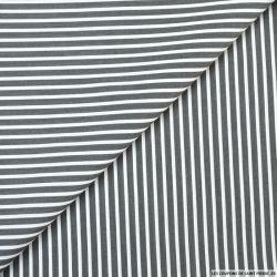 Coton chemise larges rayures gris et blanc