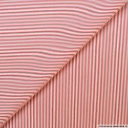 Coton chemise fines rayures rouge et blanc