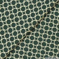 Microfibre imprimée anneaux équestre fond vert