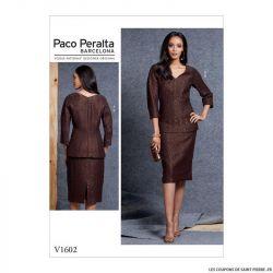 Patron Vogue V1602 : Haut et jupe tailleur