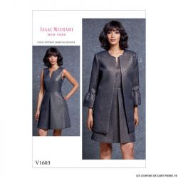 Patron Vogue V1603 : Robe et veste chic