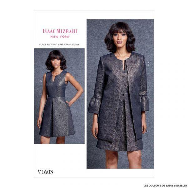 Patron Vogue V1603 : Robe et veste chic
