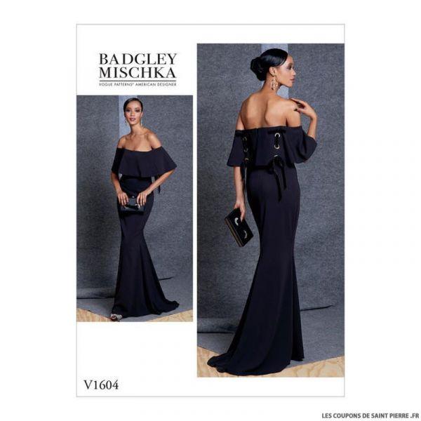 Patron Vogue V1604 : Robe de soirée
