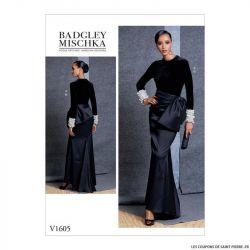 Patron Vogue V1605 : Haut et jupe de soirée