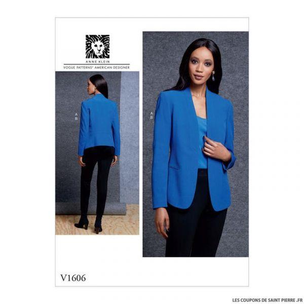 Patron Vogue V1606 : Veste et pantalon